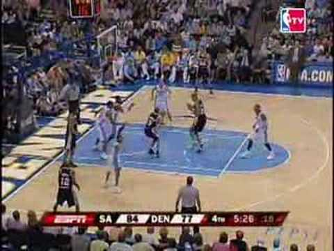 Denver vs San Antonio 2007 NBA Playoffs Game 3 Highlights