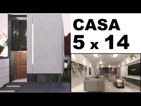Download CASA DE 5 x 14 m - COM TRÊS QUARTOS