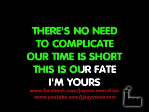 I'm Yours - In Style Of Jason Mraz - Karaoke