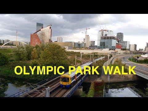 Walk around London Olympic Park Stratford 2018 4K