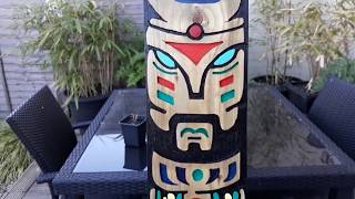 Totem pole on a fence board router project