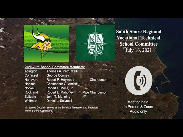 SSVT School Committee; July 21, 2021