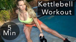 5 Minute Fat Burning Kettlebell Workout #69