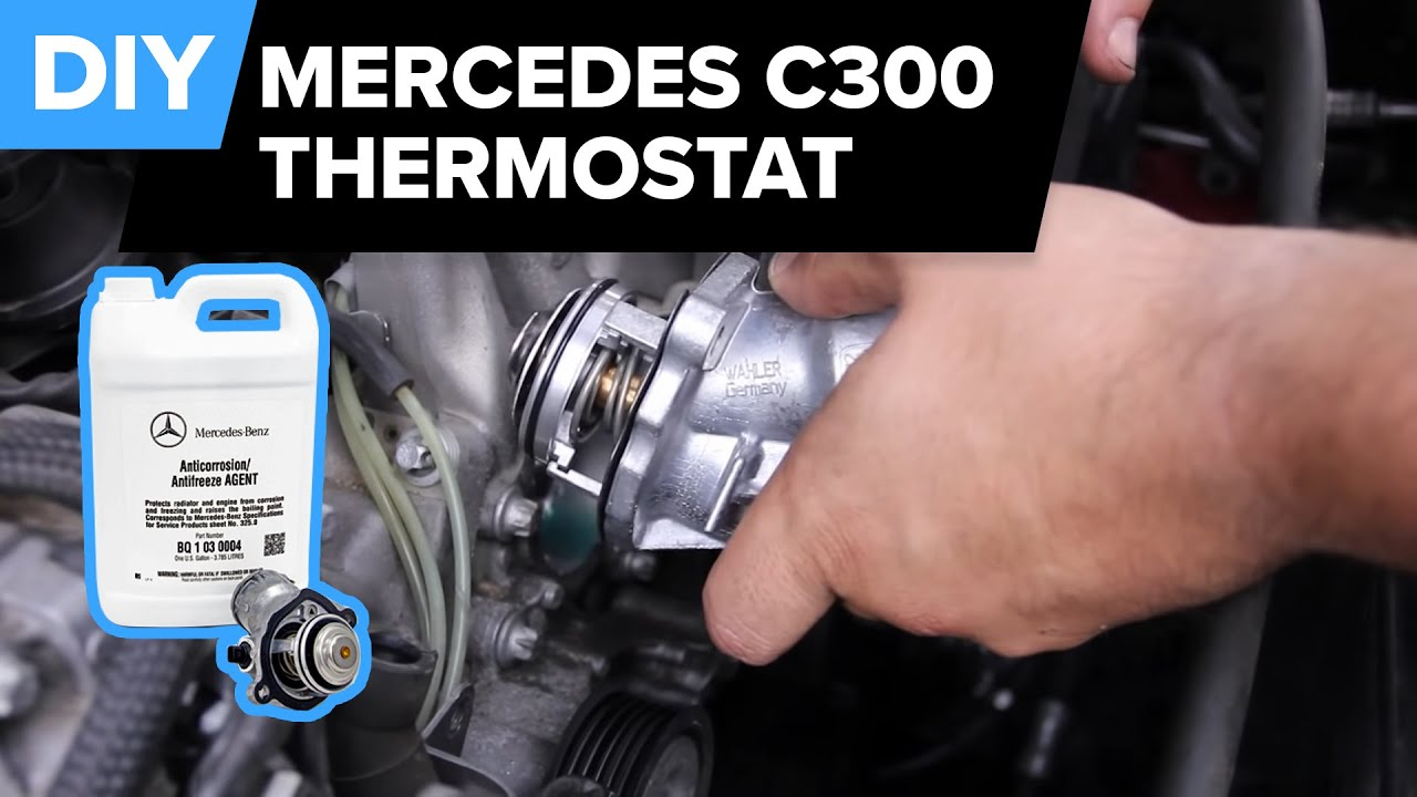 Mercedes Thermostat Replacement (W204 C300) FCP Euro - YouTube