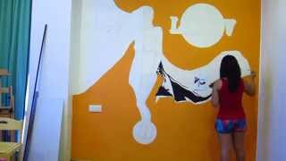 Full Wall Mural SPEED PAINTING