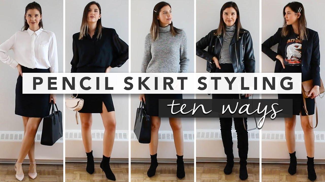 9e16407960 10 Ways to Style a Pencil Skirt - Capsule Wardrobe   by Erin Elizabeth