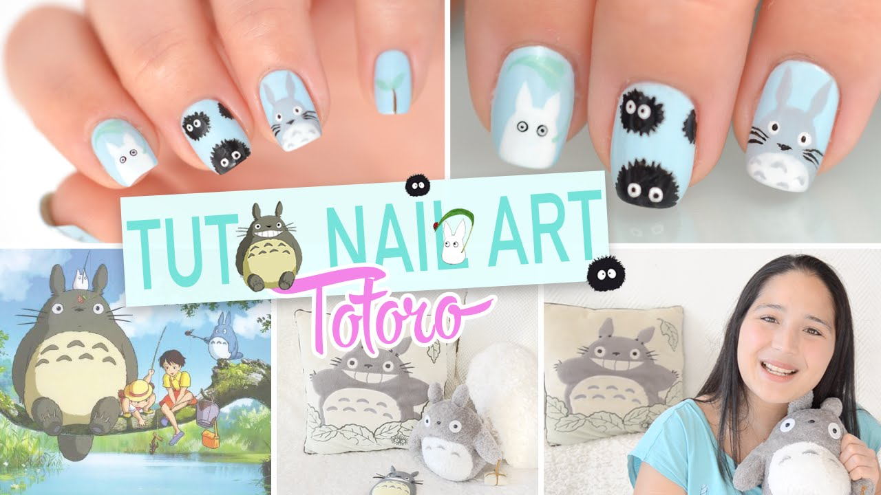 Nail art Totoro ? ??????? - YouTube