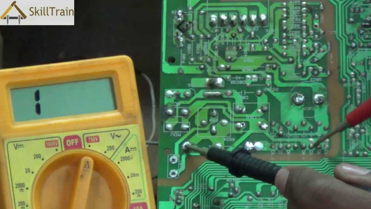 Identifying And Rectifying Faults On A Pcb Of A Colour Tv