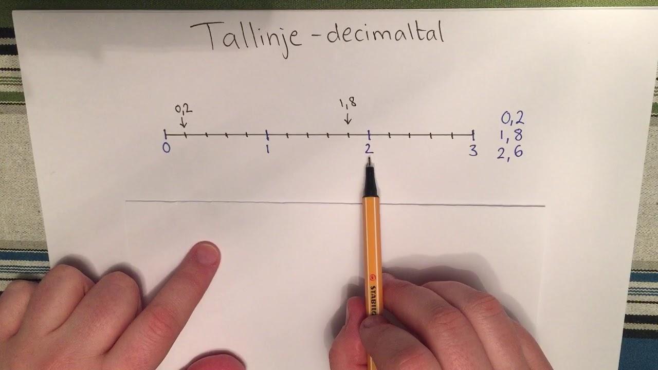 Tallinje - decimaltal