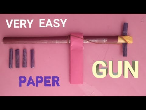 How To Make Very Easy Paper Gun That Shoot - easy paper gun tutorial