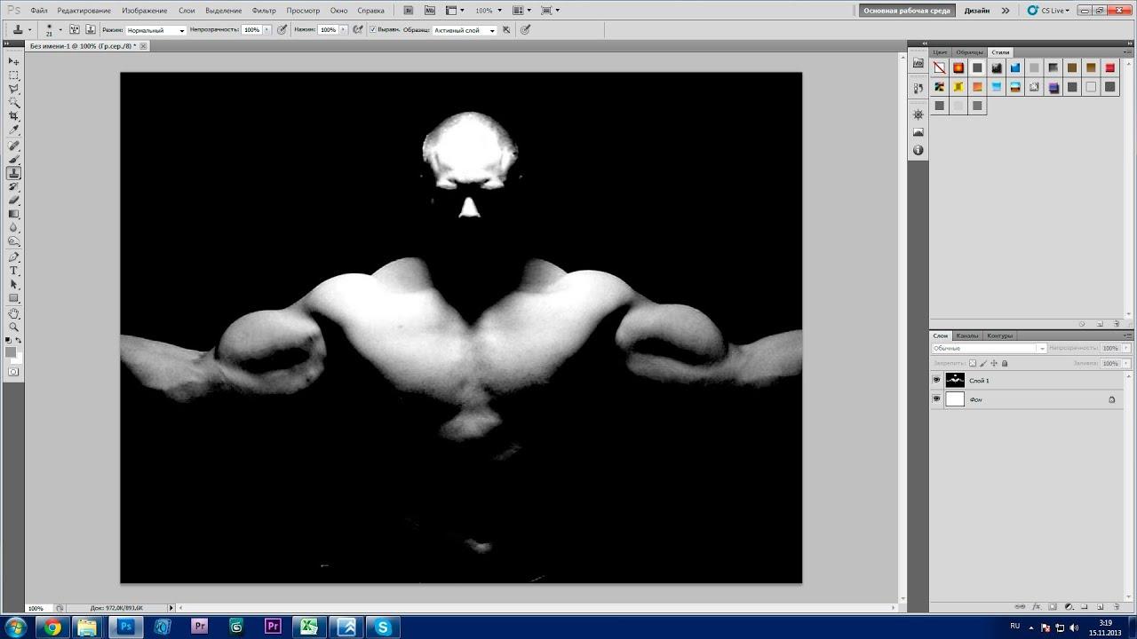 Урок Photoshop. 752 канал (Урок #14 Как сделать качка при помощи фотошопа?) (#ЕвгенийКулик)