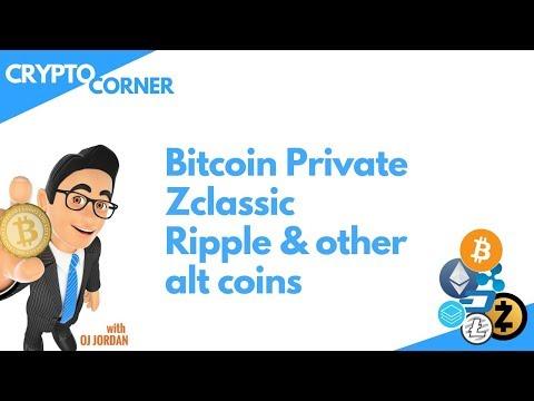 Crypto Corner | Bitcoin Private | Zclassic | Ripple + more