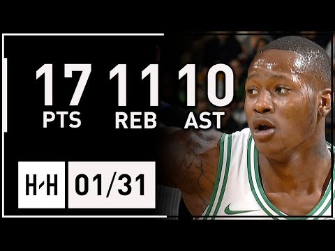Terry Rozier Triple-Double Full Highlights Celtics vs Knicks (2018.01.31) - 17 Pts, 10 Ast, 11 Reb