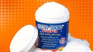 Kar tozuyla suni kar yaptık - İlginç ürün İncelemesi