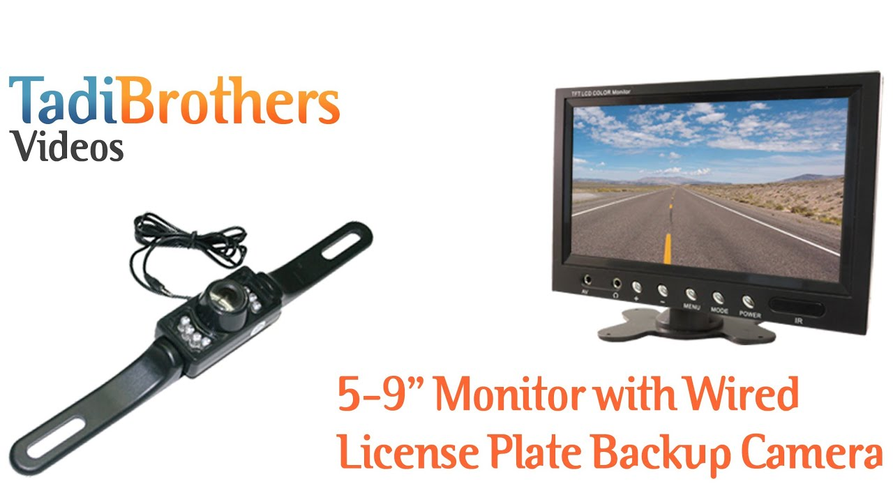 Wired License Plate Backup Camera from www.tadibrothers.com - YouTube