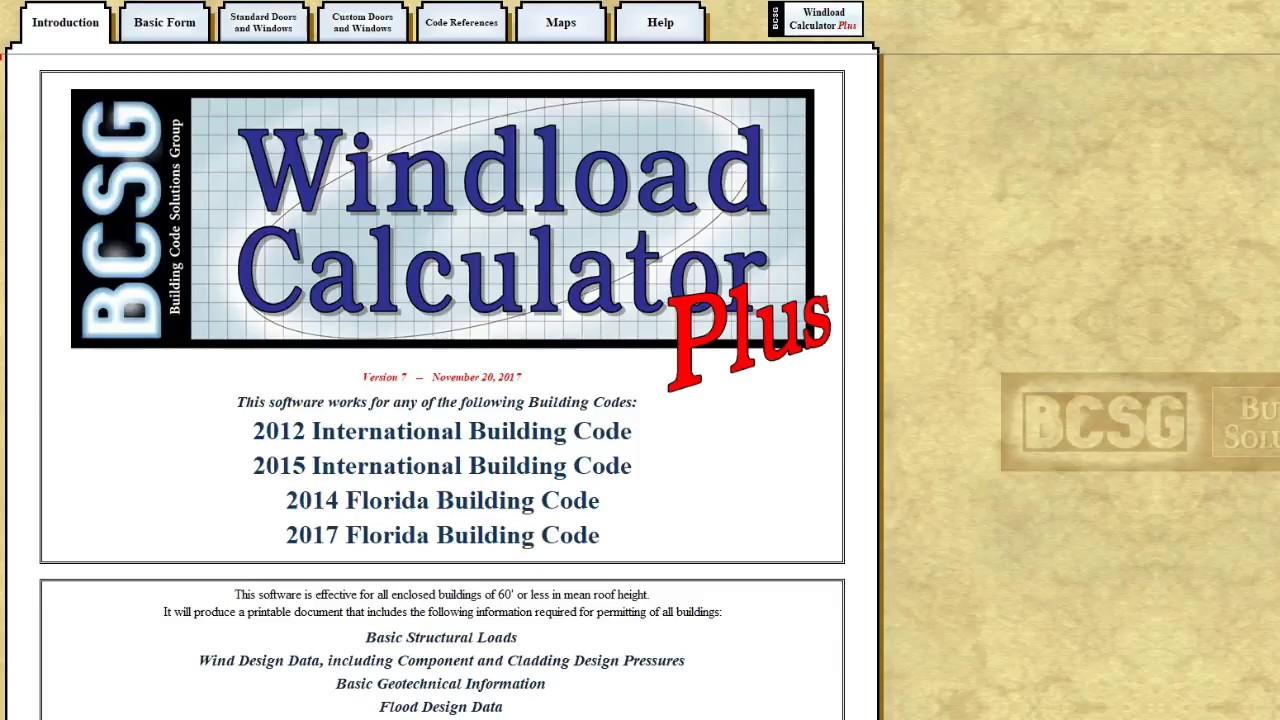 Windload Calculator Plus 2017 Updated