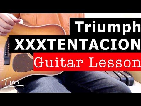 XXXTENTACION Triumph Guitar Lesson, Chords, and Tutorial thumbnail