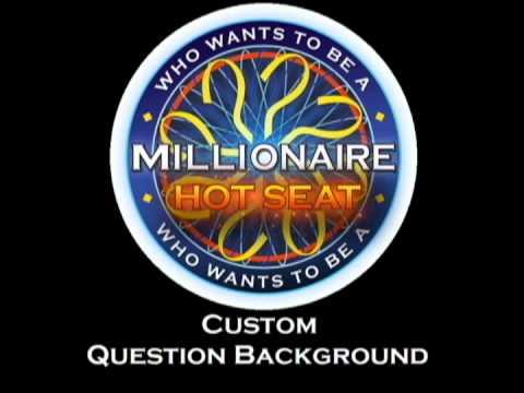 Custom Millionaire Hot Seat Question Background