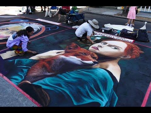 2017 Street Painting at Palo Alto Festival of Arts