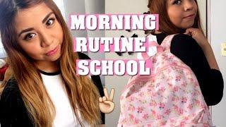 mi rutina de maana para la escuela morning routine school 2016