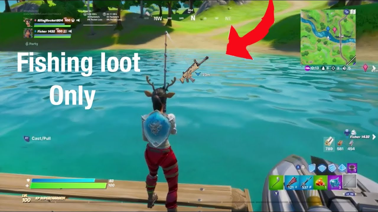 Fishing loot only challenge!