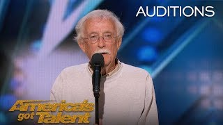 Andy Huggins: Senior Comedian Doesn't Let His Age Define His Dreams - America's Got Talent 2018