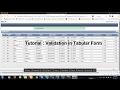 Tutorial : Validation in Tabular Form in APEX 5