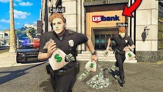 Robbing MEGA BANK As FAKE COPS In GTA 5 RP..