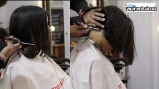 Bob Haircut in Dry Hair with Nape Cleaning