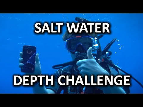 Salt Water Phone Depth Challenge!