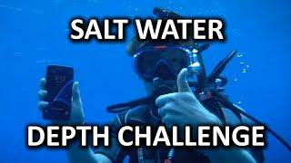 Salt Water Phone Depth Challenge!