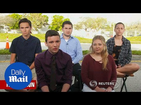 Survivors Of Parkland School Shooting Call For Gun Control - Daily Mail