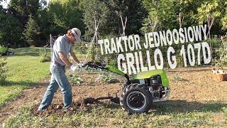Traktor jednoosiowy GRILLO G 107d z obsypnikiem / radłem