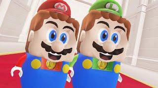 Super Mario Odyssey - LEGO Mario & LEGO Luigi Final Boss + Ending