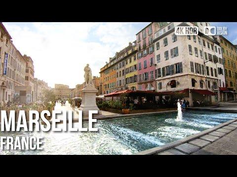 Marseille, Notre Dame de la Garde to Vieux Port - 🇫🇷 France - 4K Walking Tour