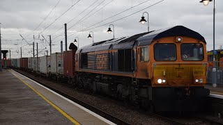 Train action at Ipswich,Ely and Cambridge 22/1/18