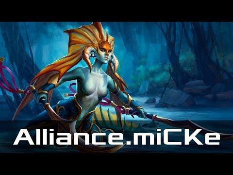 Repeat Alliance miCKe — Naga Siren, Safe Lane (Jul 24, 2019) | Dota