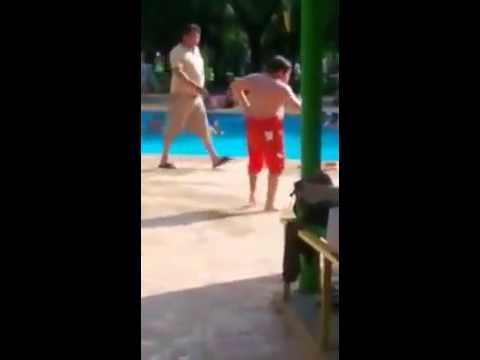 Kid Hilariously Dances to 'Cuban Pete' at Public Swimming Pool
