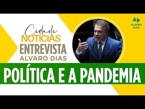 Senador Alvaro Dias participa de entrevista para a Rádio Cidade 94 FM