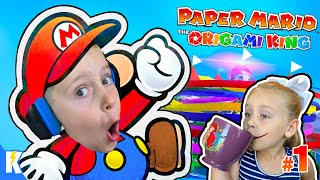 PAPER MARIO: The Origami King Gameplay Part 1! Kingdom Captured | KIDCITY