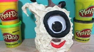 How to make a white Monster with Play Doh. Granny calls them Rascals.