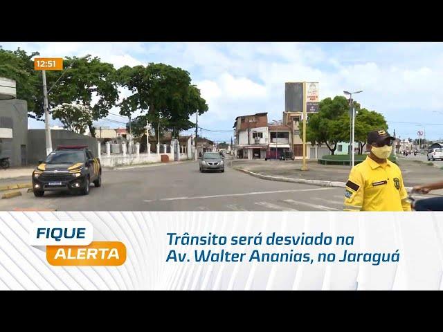 Trânsito será desviado na Av. Walter Ananias, no Jaraguá