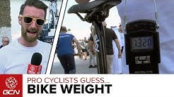 How Much Does Your Bike Weigh? Pro Cyclists Guess Bike Weight | Dubai Tour 2016