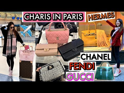 PARIS SHOPPING VLOG – PART 1- CHANEL, FENDI, HERMES, GUCCI | CHARIS IN PARIS 💕