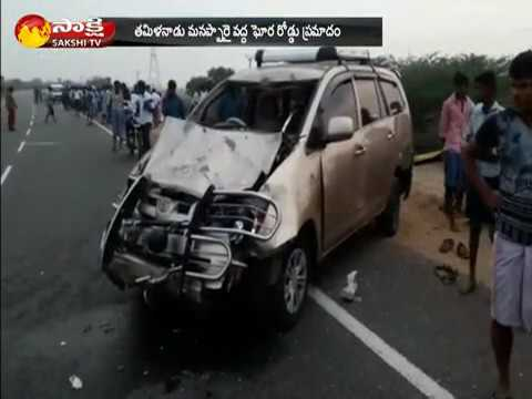 Tamil Nadu: Road Accident in Trichy, 5 died at the Spot - Watch Exclusive