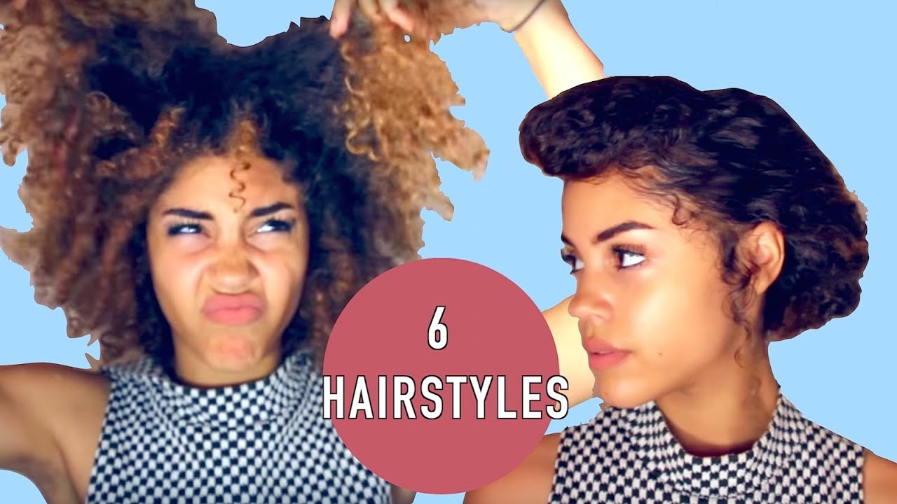 6 Hairstyle ideas for old wash and go #naturalproblems - YouTube