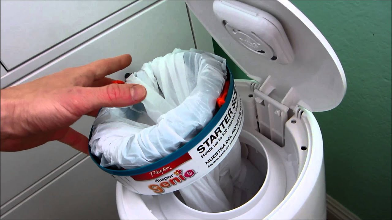 Diaper Genie hack: Use a trash bag to refill a Diaper Genie... and ...