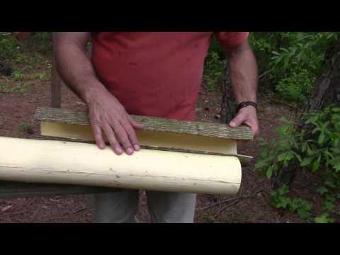 Making a Tulip Poplar Bark Archery Quiver