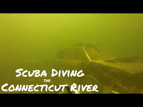 Scuba diving for treasure. Connecticut River Treasure Hunting - Shorter Video