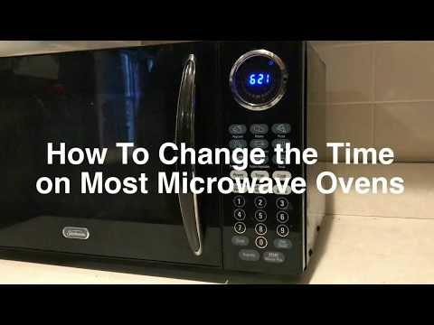How To Set the Clock and Change the Time On Most Microwave